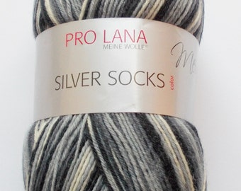 sock yarn 100g (5,-Euro/100g), gray-white, 4ply (203)
