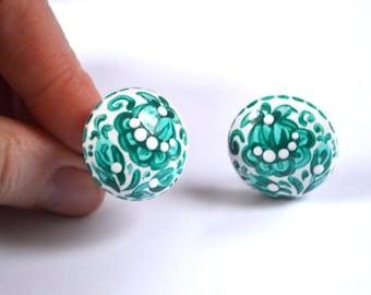 green Clip|On|Earrings wedding Jewelry green wedding gift|for|women gift|for|her womens gift birthday gift Handmade earrings green Jewelry