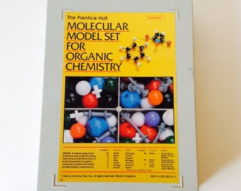 Molecular Model Set for Organic Chemistry, Molymod Science Kit, Atom Teaching, 1984, Science Biology Educational Learning Kit