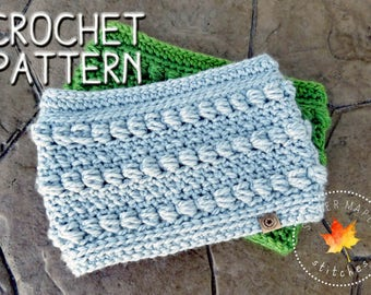 CROCHET PATTERN, Crochet Cowl Pattern, Crochet Scarf Pattern, Chunky Cowl Pattern, Chunky Cowl Pattern, Infinity Cowl Pattern, Download