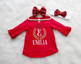 Christmas Shirt. Kids Christmas Shirt. Baby Christmas Shirt. Toddler Christmas Shirt. Christmas Top. Monogram Christmas Outfit.