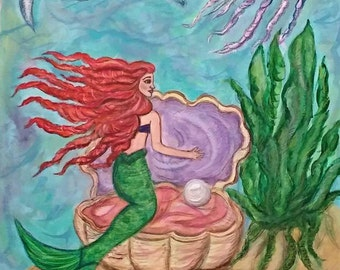 The Little Mermaid - Signed Print of Original Painting by Artist: Heidi Ramseur Lee