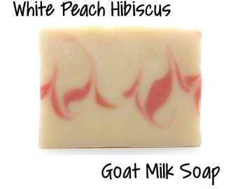 White Peach Hibiscus Goats Milk Soap