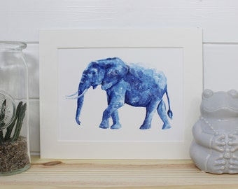 Elephant Fine Art Watercolour PRINT