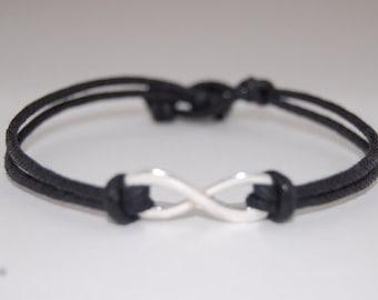 Infinity Bracelet,Cord Bracelet,Good Luck Bracelet,Infinity Bracelet,fit all,Man,Woman,Pray,Protection,Meditation,Wish Bracelet
