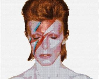 Ziggy Stardust David Bowie cross stitch patern