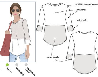 Annika Top - Sizes 16, 18, 20 - PDF sewing pattern by Style Arc for women