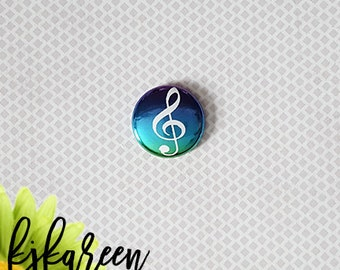 "Badge 1 ""- Treble Clef metal multitons *."