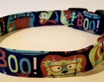"Monster ""Boo"" dog collar"
