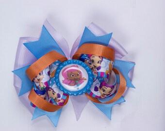 Bubble Guppies bow,  Princess hair  bow, Molly guppies bow, Molly  hair bow, Guppies hair bow, Girl Bubble Guppies hair bow, Disney bow