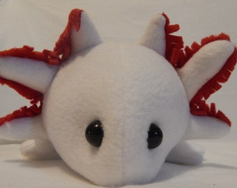 White/Leucistic  Axolotl Plush