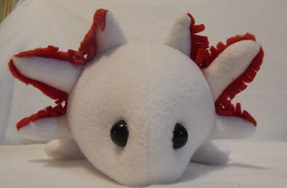leucistic axolotl whiteleucistic axolotl plush