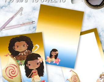 Moana Planner Cover for use of ECLP, Happy Planner, Recollections, or Dashboard
