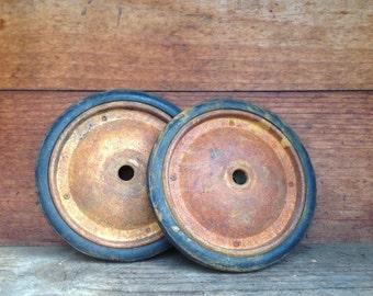 Toy Wheels, Vintage Wagon Wheels, Replacement Wheels, Rustic Decor, Farmhouse Decor, Bookends, Pair of Wheels, Toy Wagon Wheel Replacement