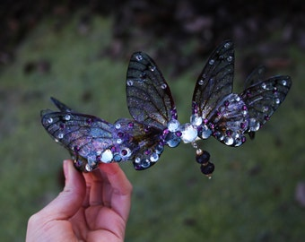 Stunning Purple Fairy Wing Fairy Queen/Bridal/Prom/Pagan Tiara/Crown/Headdress