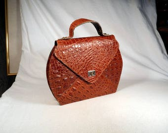 fabulous vintage leather purse real bag perfect condition!