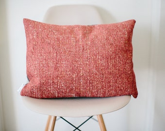 "16"" x 20"" Pink/Orange Throw Pillow Cover - COVER ONLY"
