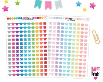 Little Retro Telephone, Planner Stickers, perfect for Erin Condren Planner and other planners.