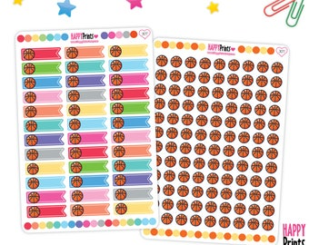 Basketball, Sport Functional Planner Stickers