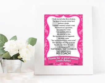 Custom Cheerleading Cheerleader Cheer Coach's Gift print, wall art, Gift for coach, Cheer Mom, gift for her, Cheer Coach, personalized gift