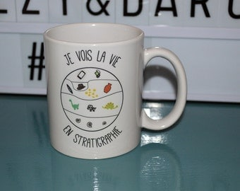 "Cup/Mug archaeology ""I see life in stratigraphy"" ideal gift for an archaeologist friend"