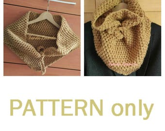 PATTERN crochet scarf triangular dot puff in SPANISH and ENGLISH. Fluffy crocheted shawl. Crochet Pashmina.