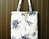 Fleurs Vintages • Handcrafted Tote Bag • Natural Cotton + Linen • Daily Essentials • ATELIER Totes