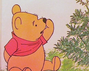 1965 Winnie the Pooh Matted Vintage Print