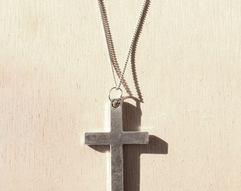 Large Cross Charm Necklace