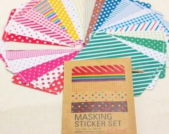 Masking tape sticker set / Filofaxing / sticky note