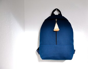 NEW canvas backpack, blue canvas, backpack purse, canvas bag, cotton rucksack, hipster backpack, MADE to ORDER