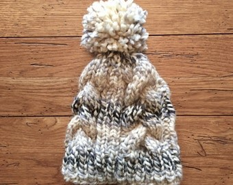 Warm Cabled Knit Hat