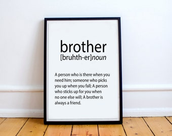 Brother meaning | Etsy
