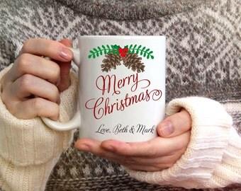 Merry Christmas Mug, Christmas mug, Winter Mug, Coffee Mug, Winter Coffee Mug, Snowflake Mug, Christmas Coffee Mug, 15 oz mug,