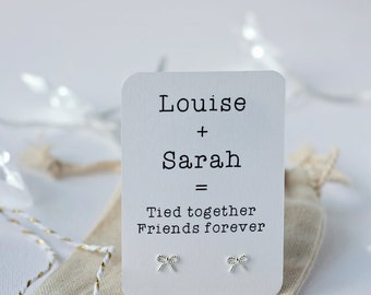 Tied together friends forever earrings