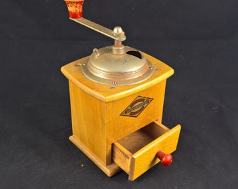 coffee grinder coffee-grinder manual grinder vintage grinder vintage coffee wooden grinder made in germany farmhouse cottage retro