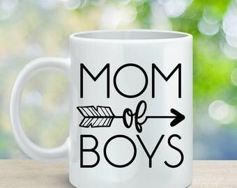 Mom of Boys Coffee Mug, Gift for Mom, Mother's Day Gift