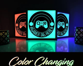 Video Game Sign, Gaming Light, Video Game Decor, Custom Gamer Tag, Playstation, Video Game Wall Art, Video Game Room, Gaming Art