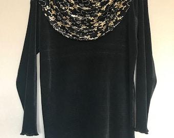 Black and gold La Fete blouse