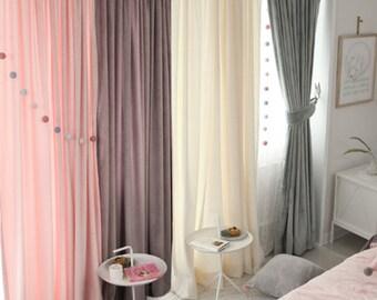 Lovely Plush Curtain