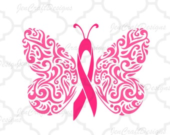 Filigree Awareness Butterfly, Cancer Ribbon SVG, DXF, EPS,Png, Ai, jpg, Instant Download cutting files Explore and Cameo