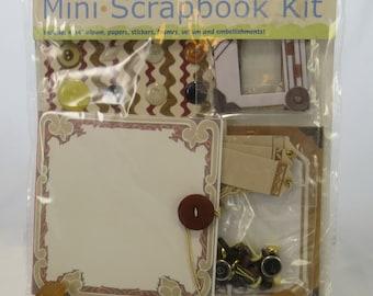 Colorbok mini scrapbook kit, DIY scrapbook kit, mini scrapbook kit, 4x4 mini scrapbook kits, beginner scrapbook kit, premade scrapbook kits