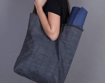 Oversized, Tote Bag, Gray Bag, Canvas Bag, Sports Bag, Yoga Bag, Carry On Bag, Big Bag, Rustic Bag, Project Bag, Knitting Project Bag
