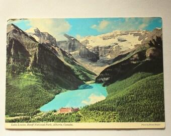Lake Louise 1974 /  Banff National Park /Alberta Postcard /Mountains Postcard / Canada Postcard / Vintage Banff Postcard / Majestic Postcard