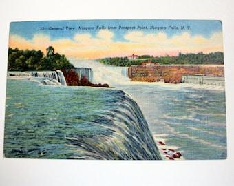Niagara Falls Postcard 1956 / from Prospect Point / waterfalls Postcard / Niagara Falls souvenir / vintage Niagar Falls