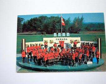 Royal Canadian Mounted Police Postcard / Vintage RCMP Band Postcard / Royal Canadian Mounted Police Souvenir