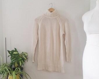 vintage LL bean turtleneck, knit sweater, ribbed turtleneck sweater