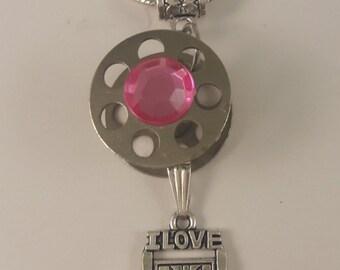 Bobbin Necklace, Sewing Bobbin,Quilting Bobbin, Bobbin Charm Necklace,Arts and Crafts Charm