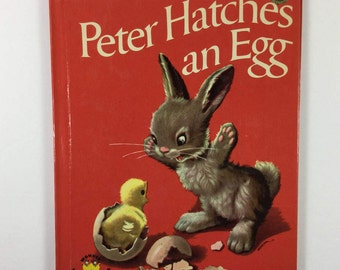 Peter Hatches An Egg Vintage 1962 Children's Wonder Book