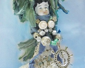 "Mermaid OOAK Ornament ""Genevieve"""
